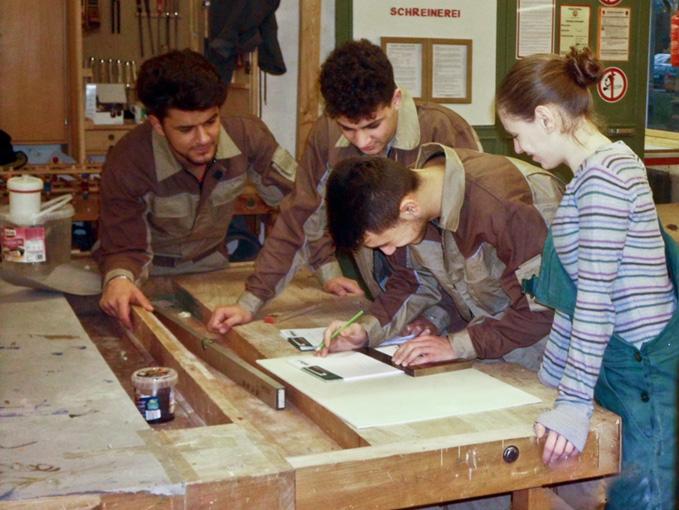 Planung in der Holzwerkstatt