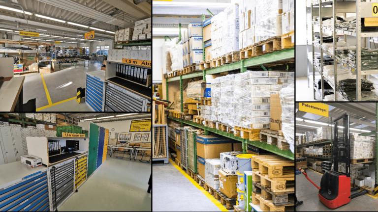 Ansichten aus Logistik und Lagerung